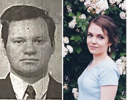 (на фото: совершивший насилие на 25 млн. грн Олег Шевчук и его дочь, выставляющая себя жертвой Екатерина Шевчук)